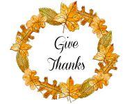 leaf wreath thanks